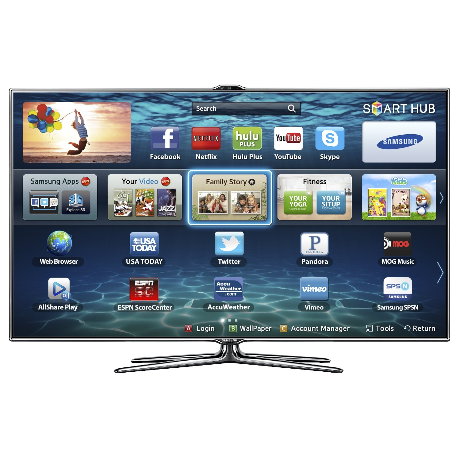 Samsung Smart Led Tv : The Samsung 46 Inch Smart Cinema 3D LED TV UN46ES7500